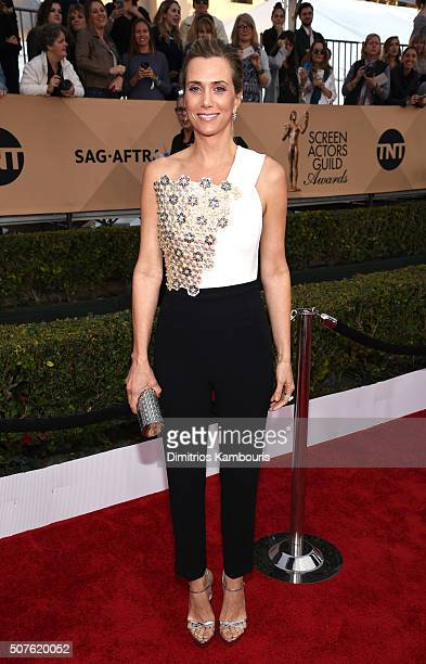 Actress Kristen Wiig attends The 22nd Annual Screen Actors Guild Awards at The Shrine Auditorium on January 30 2016 in Los Angeles California...
