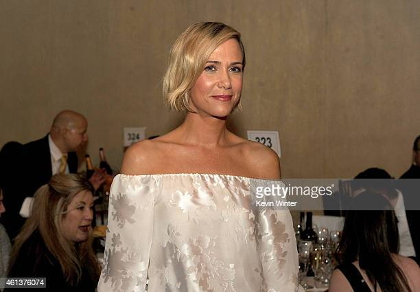 Actress Kristen Wiig attends the 72nd Annual Golden Globe Awards cocktail party at The Beverly Hilton Hotel on January 11 2015 in Beverly Hills...