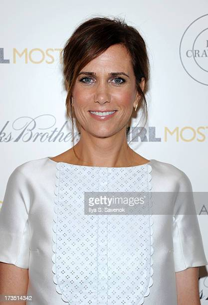 "Actress Kristen Wiig attends The Cinema Society & Brooks Brothers Host A Screening Of Lionsgate And Roadside Attractions' ""Girl Most Likely""s at..."