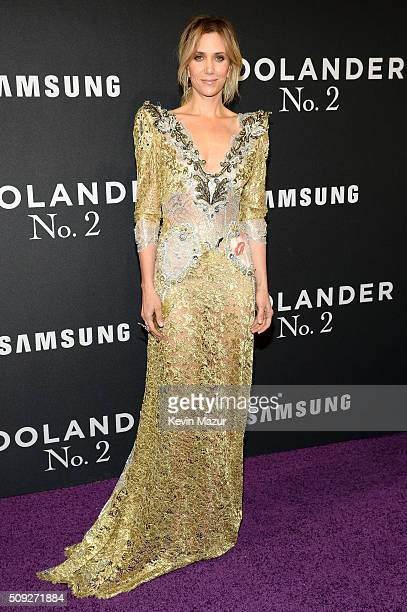 Actress Kristen Wiig attends the 'Zoolander 2' World Premiere at Alice Tully Hall on February 9 2016 in New York City
