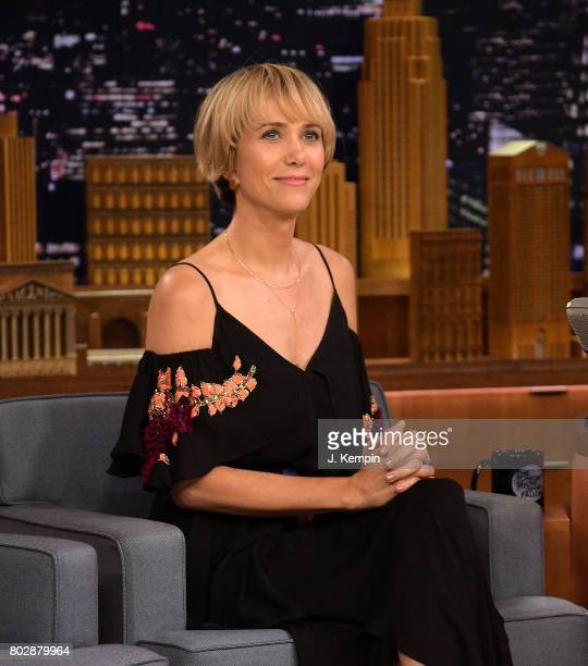 Actress Kristen Wiig visits 'The Tonight Show Starring Jimmy Fallon' at Rockefeller Center on June 28 2017 in New York City
