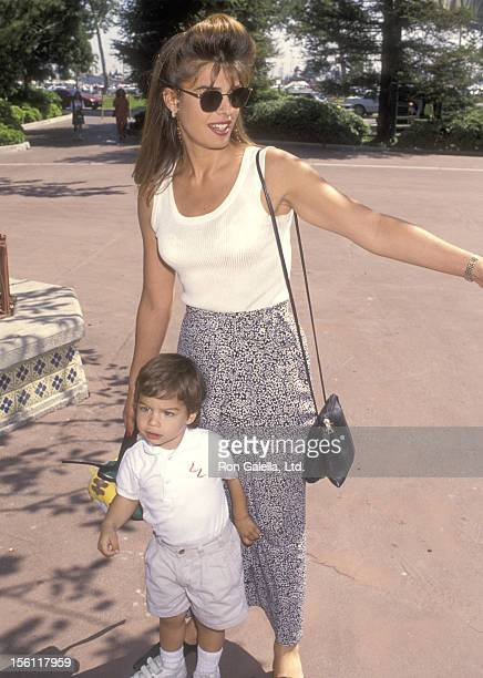 Actress Kristian Alfonso and son Gino Macauley attend the 'Happy Birthday Camp Snoop' A Festive Celebration Marking the 10th Birthday of the...
