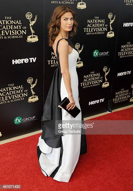 Actress Kristian Alfonso arrives at the 41st Annual Daytime Emmy Awards at The Beverly Hilton Hotel on June 22 2014 in Beverly Hills California