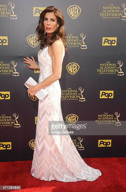 Actress Kristian Alfonso arrives at the 42nd Annual Daytime Emmy Awards at Warner Bros Studios on April 26 2015 in Burbank California
