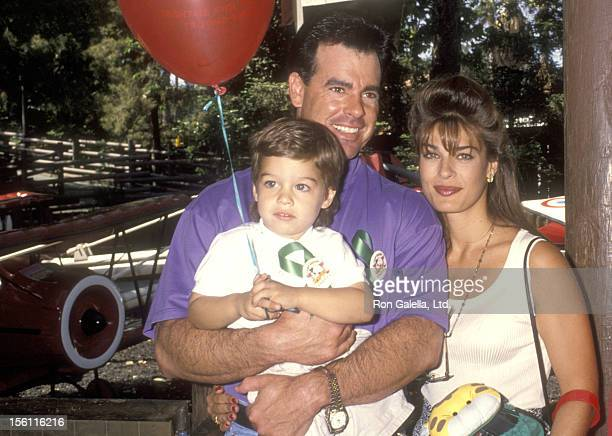 Actress Kristian Alfonso boyfriend Michael Palumbo and her son Gino Macauley attend the 'Happy Birthday Camp Snoop' A Festive Celebration Marking the...