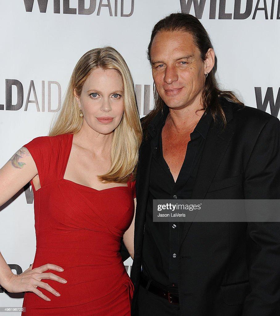 Actress Kristin Bauer van Straten and husband Abri van Straten attend WildAid 2015 at Montage Hotel on November 7, 2015 in Beverly Hills, California.