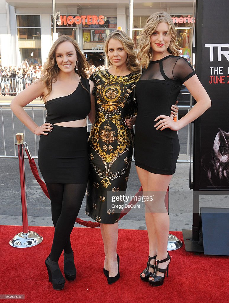Actress Kristin Bauer van Straten and nieces arrive at HBO's 'True Blood' final season premiere at TCL Chinese Theatre on June 17, 2014 in Hollywood, California.