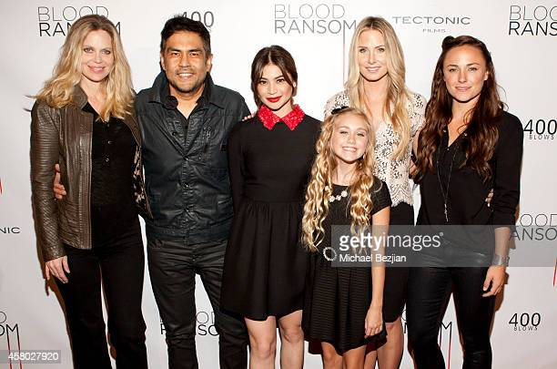 Actress Kristin Bauer van Straten, director Francis dela Torre and actresses Anne Curtis, Emily Skinner, Vanessa Evigan and Briana Evigan attend the...