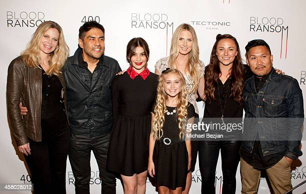 Actress Kristin Bauer van Straten director Francis dela Torre and actresses Anne Curtis Emily Skinner Vanessa Evigan and Briana Evigan and actor...