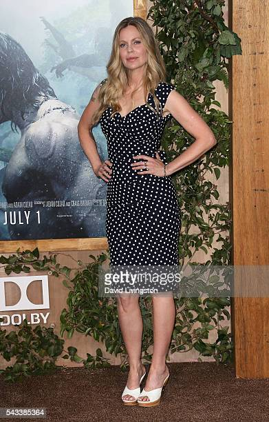Actress Kristin Bauer von Stranten attends the premiere of Warner Bros Pictures' The Legend of Tarzan at the Dolby Theatre on June 27 2016 in...
