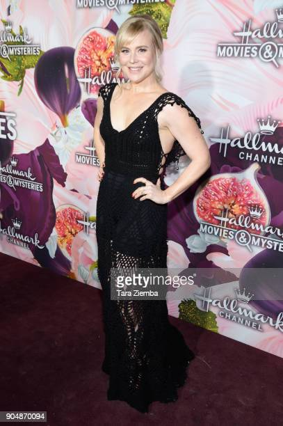 Actress Kristin Booth attends Hallmark Channel and Hallmark Movies and Mysteries Winter 2018 TCA Press Tour at Tournament House on January 13 2018 in...