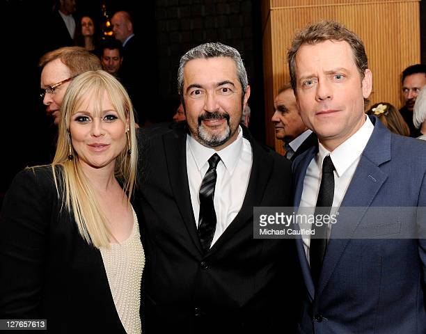 "Actress Kristin Booth, Director Jon Cassar and actor Greg Kinnear attend the after party for ""The Kennedys"" world premiere held at AMPAS Samuel..."