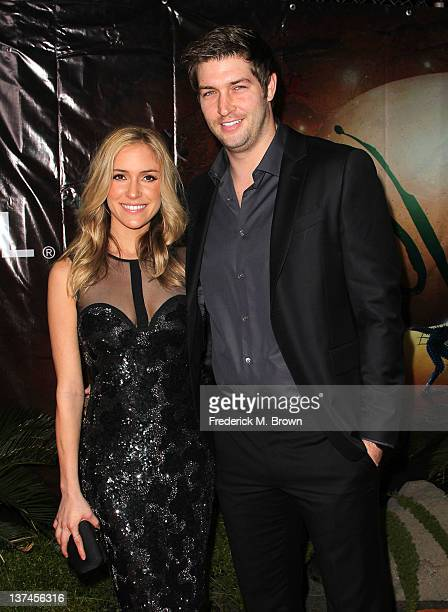 Actress Kristin Cavallari and NFL quartertback Jay Cutler attend the Opening Night Of Cirque du Soleil's 'OVO' at the Santa Monica Pier on January 20...