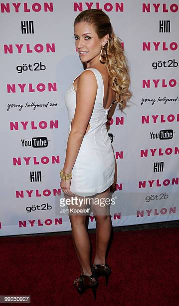 Actress Kristin Cavallari arrives at NYLON Magazine's May Issue Young Hollywood Launch Party at The Roosevelt Hotel on May 12 2010 in Hollywood...