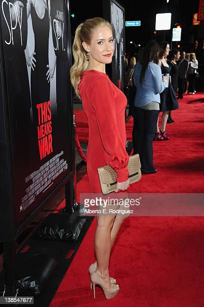 Actress Kristin Cavallari attends the premiere of Twentieth Century Fox's 'This Means War' held at Grauman's Chinese Theatre on February 8 2012 in...