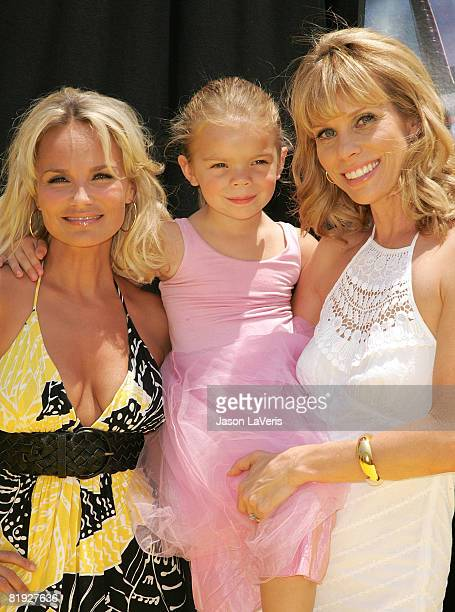 Actress Kristin Chenoweth, actress Cheryl Hines and her daughter, Catherine Rose attend the Twentieth Century Fox and Starz Animation Premiere of...