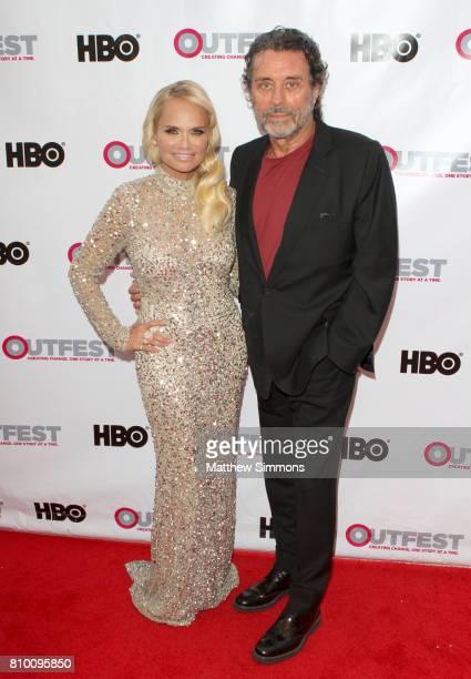 Actress Kristin Chenoweth and actor Ian McShane attend the opening night gala of 'God's Own Country' at the 2017 Outfest Los Angeles LGBT Film...