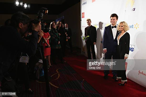 Actress Kristin Chenoweth and Blake Christopher O'Donnell attend PFLAG National's Eighth Annual Straight for Equality Awards Gala at The New York...