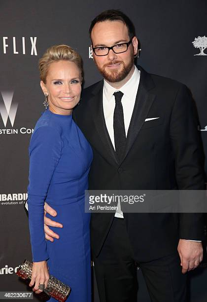 Actress Kristin Chenoweth and Dana Brunetti attend The Weinstein Company Netflix's 2014 Golden Globes After Party presented by Bombardier FIJI Water...