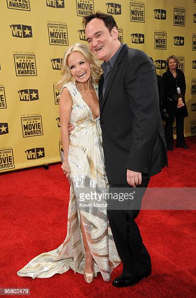 Actress Kristin Chenoweth and director Quentin Tarantino arrive at the 15th annual Critic's Choice Movie Awards held at the Hollywood Palladium on...