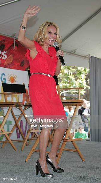 Actress Kristin Chenoweth appears on stage at the 14th annual Los Angeles Times Festival of Books at UCLA on April 25, 2009 in Los Angeles,...