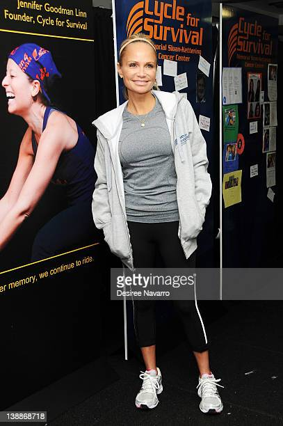 Actress Kristin Chenoweth attends 2012 Cycle For Survival Day 2 at Equinox Graybar on February 12 2012 in New York City