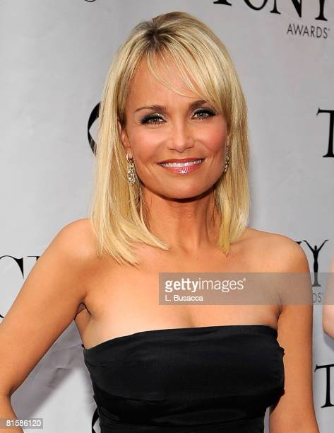 Actress Kristin Chenoweth attends the 62nd Annual Tony Awards at Radio City Music Hall on June 15 2008 in New York City