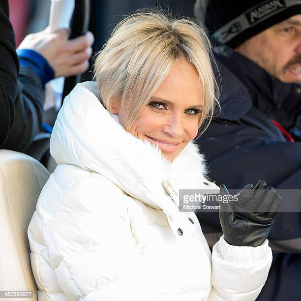 Actress Kristin Chenoweth attends the 87th annual Macy's Thanksgiving Day parade on November 28 2013 in New York City