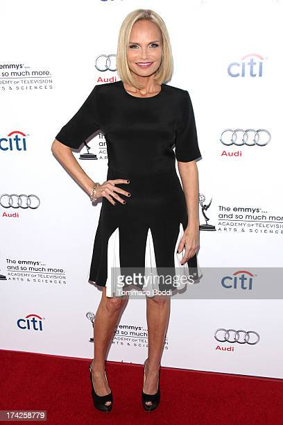 Actress Kristin Chenoweth attends the Academy of Television Arts & Sciences presents an evening with Carol Burnett held at the Leonard H. Goldenson...