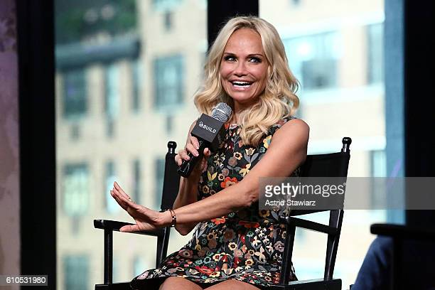 Actress Kristin Chenoweth attends The Build Series Presents Kristin Chenoweth Discussing Her New Album 'The Art of Elegance' at AOL HQ on September...
