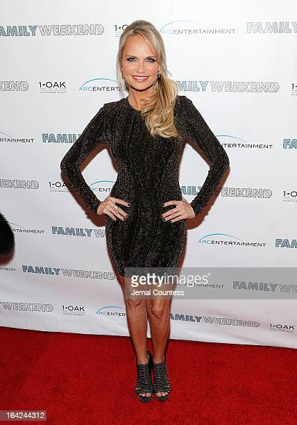 """Actress Kristin Chenoweth attends the """"Family Weekend"""" New York Screening at Chelsea Clearview Cinemas on March 21, 2013 in New York City."""