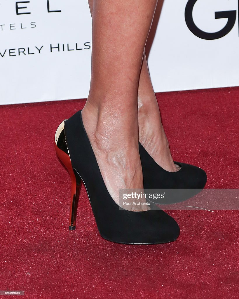 Actress Kristin Chenoweth (Shoe Detail) attends the opening of the new bar Riviera 31 at the Sofitel L.A. Hotel on January 15, 2013 in Beverly Hills, California.