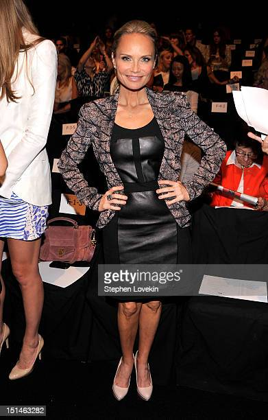 Actress Kristin Chenoweth attends the Rebecca Minkoff Spring 2013 fashion show during MercedesBenz Fashion Week at The Theatre Lincoln Center on...