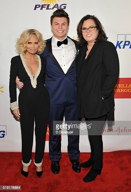 Actress Kristin Chenoweth Blake Christopher O'Donnell and actress Rosie O'Donnell attend PFLAG National's eighth annual Straight for Equality awards...