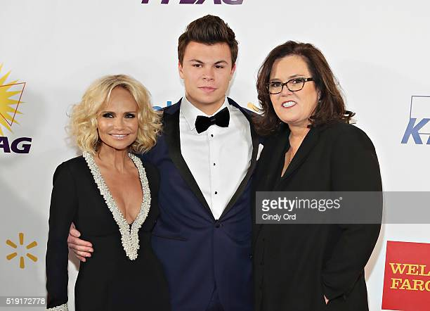 Actress Kristin Chenoweth Blake Christopher O'Donnell and comedian Rosie O'Donnell attend PFLAG National's Eighth Annual Straight for Equality Awards...