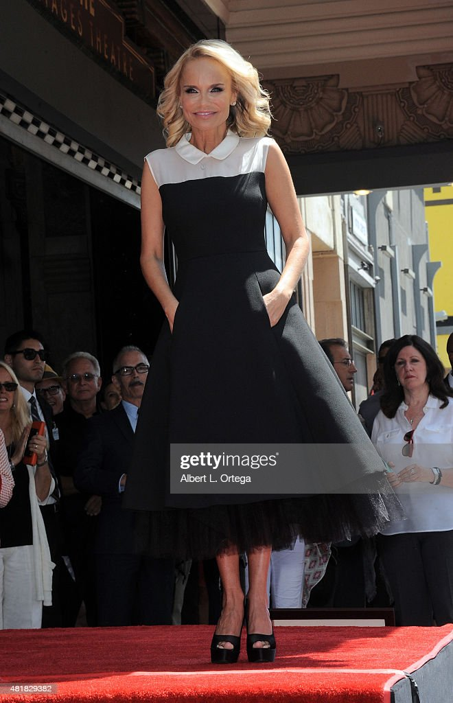 Actress Kristin Chenoweth is honored with a star on the Hollywood Walk of Fame on July 24, 2015 in Hollywood, California.