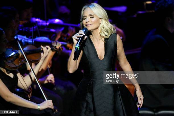 Actress Kristin Chenoweth performs at Mancini Delivered A Musical Tribute To Ginny And Henry Mancini at Wallis Annenberg Center for the Performing...