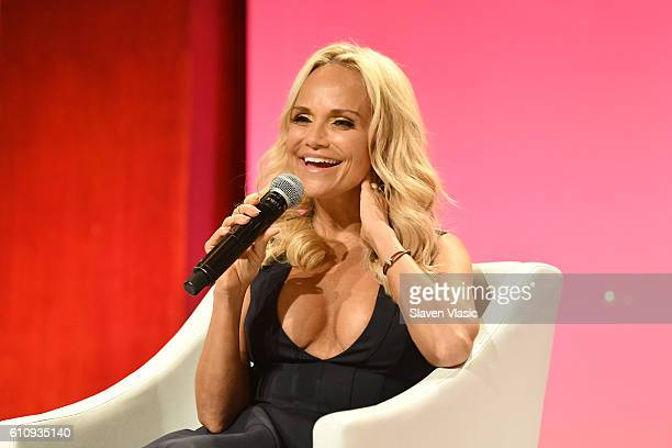 Actress Kristin Chenoweth speaks on the THRIVE with Arianna Huffington panel at The Town Hall during 2016 Advertising Week New York on September 28...