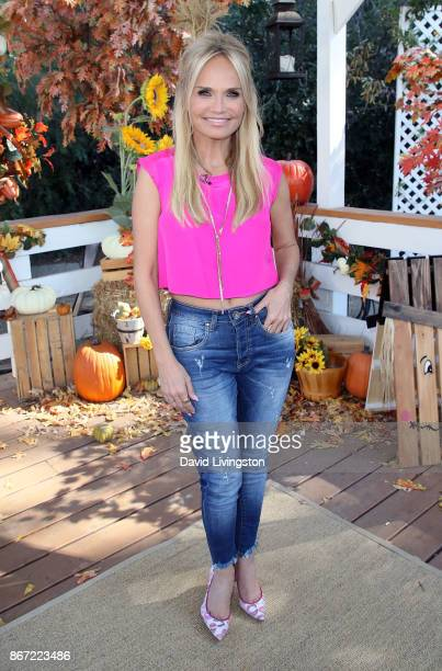 Actress Kristin Chenoweth visits Hallmark's Home Family at Universal Studios Hollywood on October 27 2017 in Universal City California