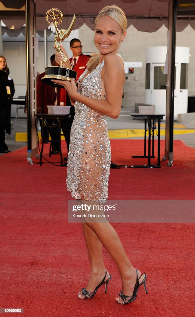 Actress Kristin Chenoweth winner of the Outstanding Supporting Actress in a Comedy Series award for 'Pushing Daisies' backstage at the 61st Primetime Emmy Awards held at the Nokia Theatre on September 20, 2009 in Los Angeles, California.