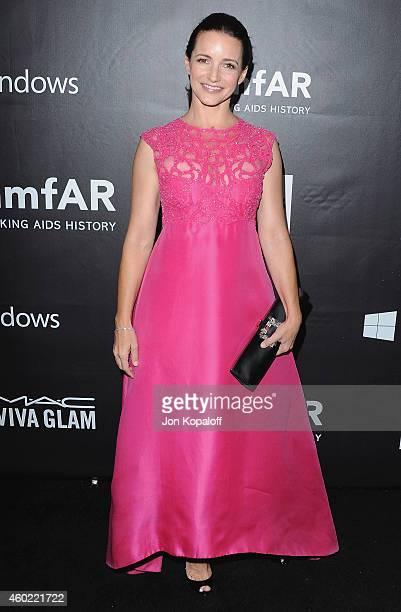 Actress Kristin Davis arrives at the 2014 amfAR LA Inspiration Gala at Milk Studios on October 29, 2014 in Hollywood, California.