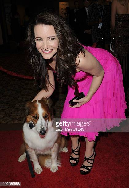 Actress Kristin Davis arrives at the 25th Anniversary Genesis Awards hosted by the Humane Society of the United States held at the Hyatt Regency...