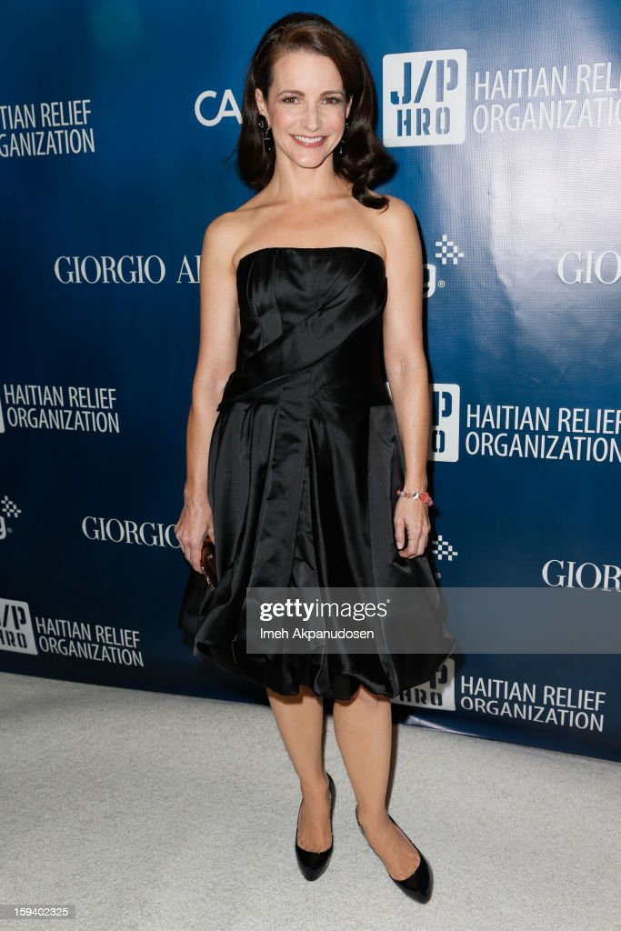 Actress Kristin Davis attends the 2nd Annual Sean Penn and Friends Help Haiti Home Gala benefiting J/P HRO presented by Giorgio Armani at Montage Hotel on January 12, 2013 in Los Angeles, California.