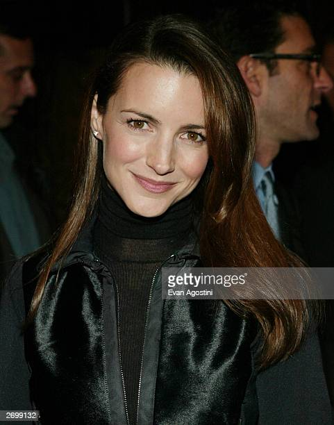 Actress Kristin Davis attends the HBO FILMS Premiere of Angels In America at The Ziegfeld Theater November 4 2003 in New York City