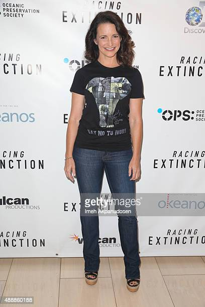 Actress Kristin Davis attends the premiere of Discovery Channel's 'Racing Extinction' at The London West Hollywood on September 17 2015 in West...