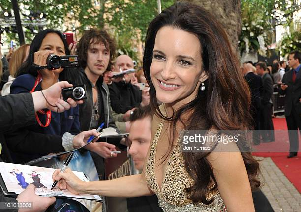Actress Kristin Davis attends the UK premiere of Sex And The City 2 at Odeon Leicester Square on May 27 2010 in London England