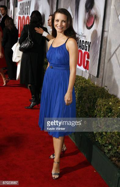 Actress Kristin Davis attends the Walt Disney Pictures' premiere of The Shaggy Dog at The El Capitan Theatre March 7 2006 in Hollywood California
