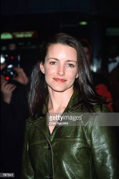 Actress Kristin Davis poses for a picture outside the premiere of ''Earthly Possessions'' March 16 1999 in New York City The film is based on the...
