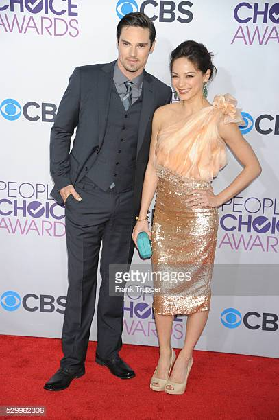Actress Kristin Kreuk and actor Jay Ryan arrive at the People's Choice Awards 2013 held at the Nokia Theater L A Live