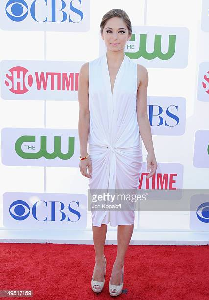 Actress Kristin Kreuk arrives at the 2012 CBS Showtime and The CW TCA Summer Party at 9900 Wilshire Blvd on July 29 2012 in Beverly Hills California